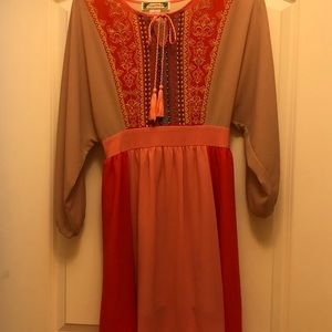 Anthropology Flying Tomato lined short dress M LN